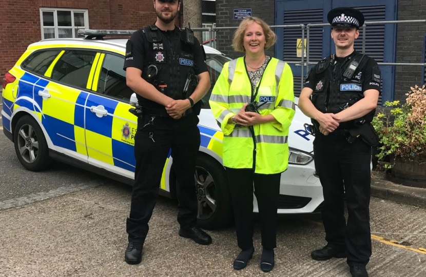 Vicky with the Chelmsford Police